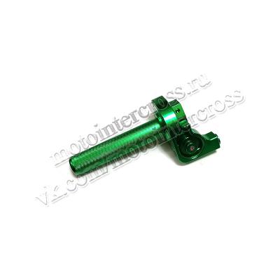 Ручка газа в сборе алюминиевая CNC зеленая