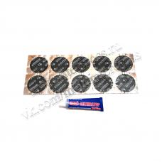 Латки камерные Ф-42 (круглые) + клей-активатор ROSSVIK (10шт. + 1шт.)