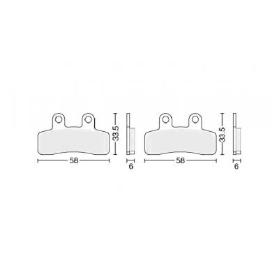 Колодки тормозные дисковые  #6 TTR125 (передние) X-TECH
