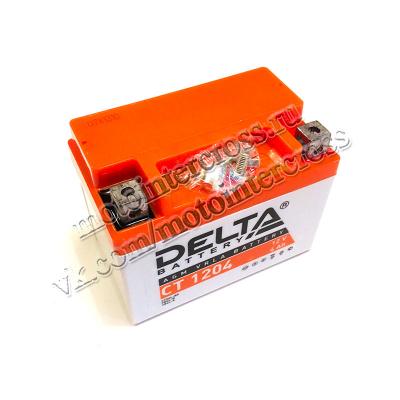 Аккумуляторная батарея 12V4Ah (113x70x87) (залитая, необслуж.) DELTA TTR110