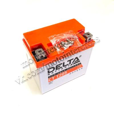 Аккумуляторная батарея 12V5Ah (114x70x106) (залитая, необслуж.) DELTA TTR125