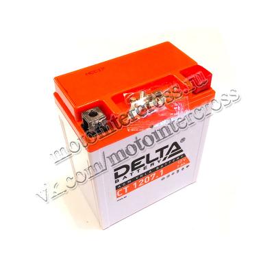 Аккумуляторная батарея 12V7Ah (114x70x132) (залитая, необслуж.) DELTA TTR250 кросс